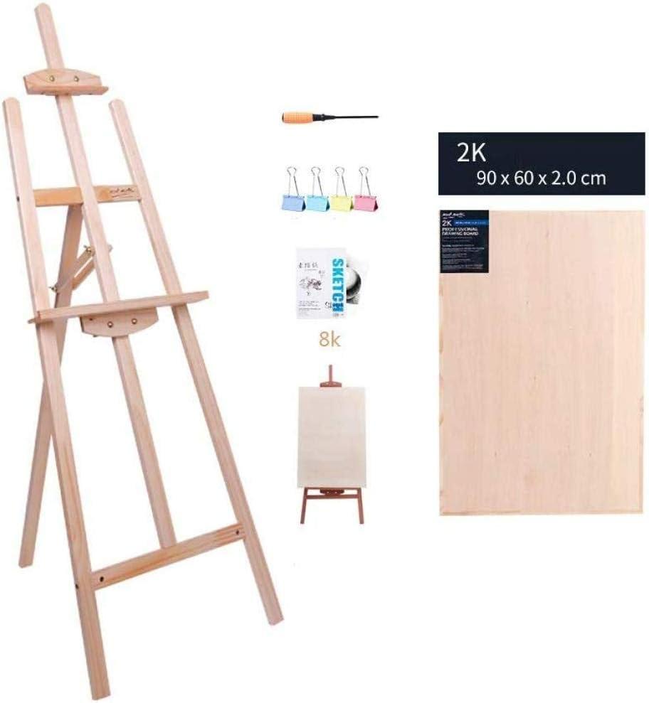YLDXHJ Caballete De Madera Alto Caballete De Pie Ajustable Adecuado para Pintor Estudiante Trípode Adulto con Tablero De Dibujo 3 Colores,Natural-2Kdrawingboard: Amazon.es: Hogar