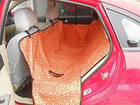 Pet Seat Covers Covers Pet Dog Rear Back Car Seat Cover Hammock Protector Cushion Mat Orange