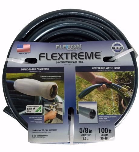 "Flexon Flextreme Contractor Grade Lawn & Garden Hose, 5/8"" Diameter x 100 ft from Flexon"