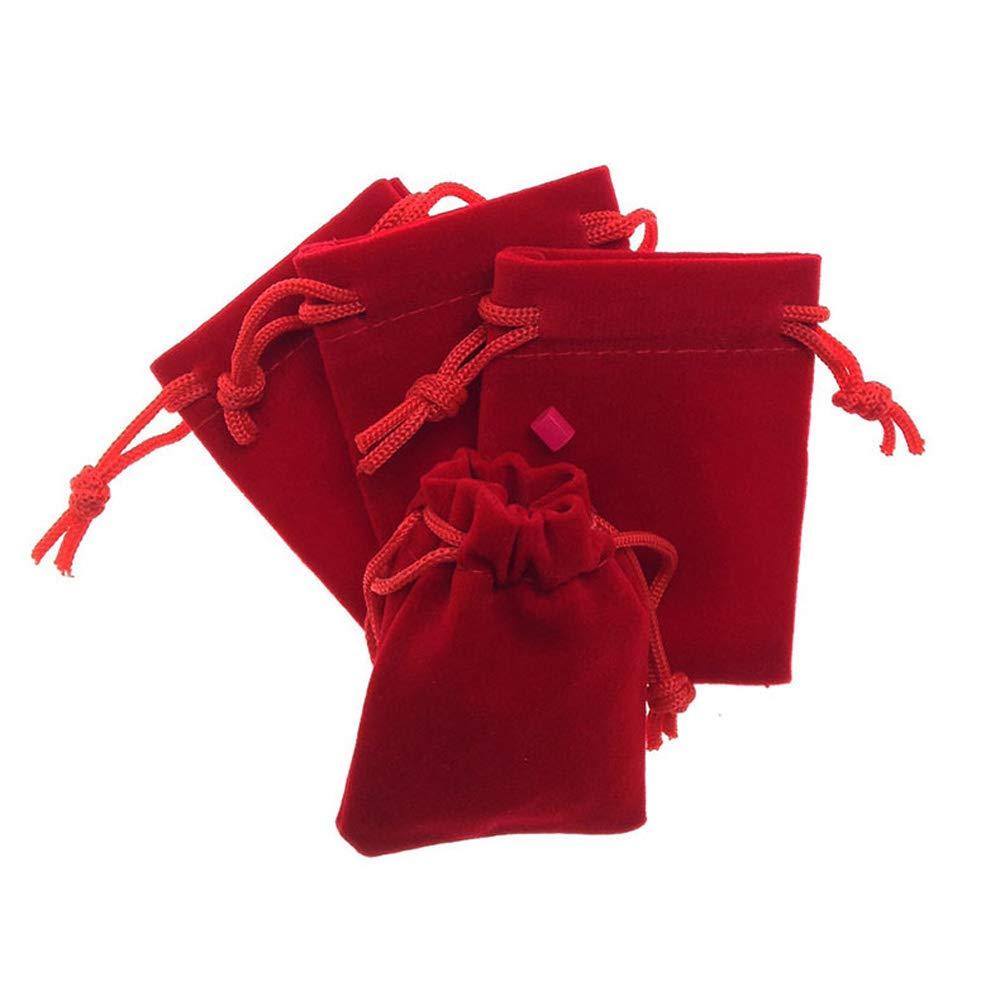 HOMIXES 50pcs Pochette /à Bijoux Sac Cadeau /à Cordon Coulissant Sachet en Velours Faveur Pochettes De Mariage Partie De F/ête Cadeau Sacs