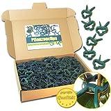 Pflanzenclips 100 Stück stabile Clips Pflanzenklammern für kleine & große Triebe Spaliere Rosenbögen Rankhilfen (100er-Set KLEIN)
