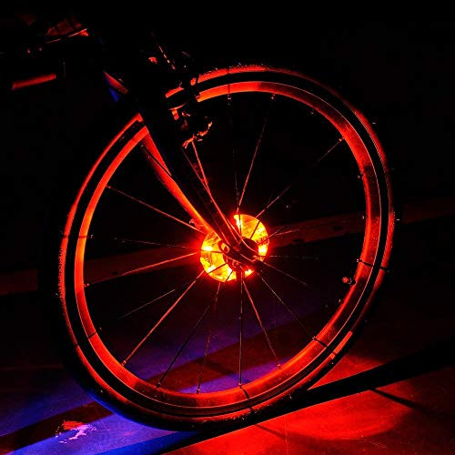 Lufei LED Bike Wheel Lights Hub Light Led Spoke Warning Lights Cycling Decoration Night Riding Bicycle Wheels Lights.(Red)