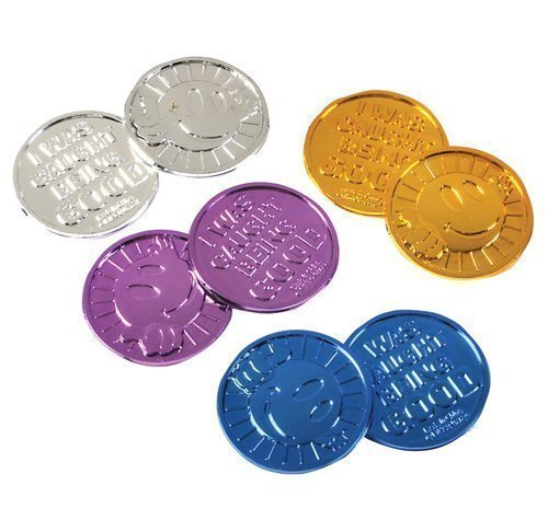 Oriental Trading Company ''I Was Caught Being Good!'' Plastic Coins- Bulk (half pack of 72))