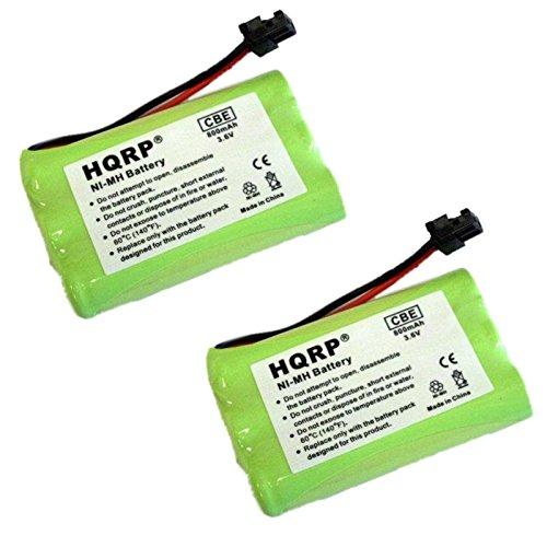 HQRP TWO Cordless Phone Batteries for Lenmar CBC909, BATT-909, ER-P512 Replacement plus Coaster