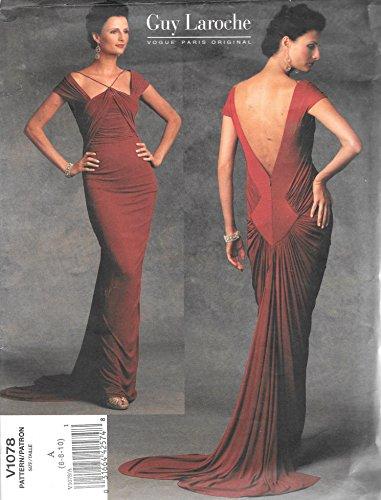Vogue 1078 Guy Laroche Paris Original Formal Gown Evening Wear Sewing - Wear Evening Vogue