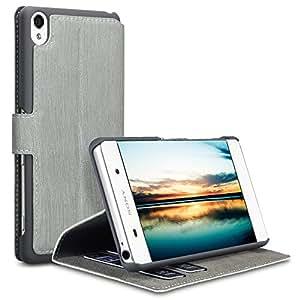 Sony Xperia XA Funda Cartera adaptable en posición horizontal para - Gris