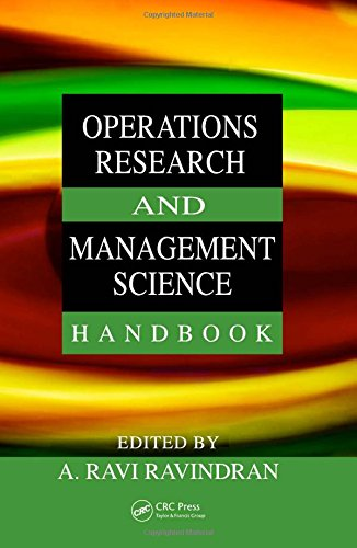 Operations Research and Management Science Handbook (Operations Research Series)