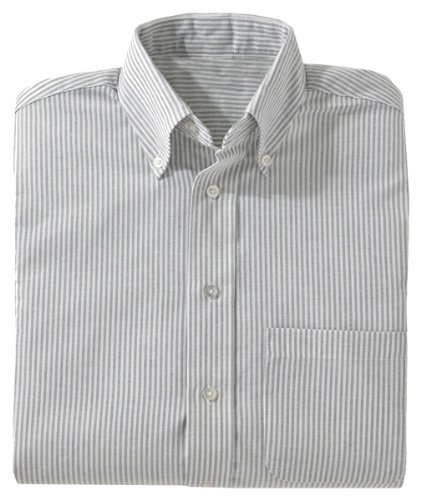 Ed Garments Men's Big And Tall Short Sleeve Oxford Shirt, GREY STRIPE, X-Large ()