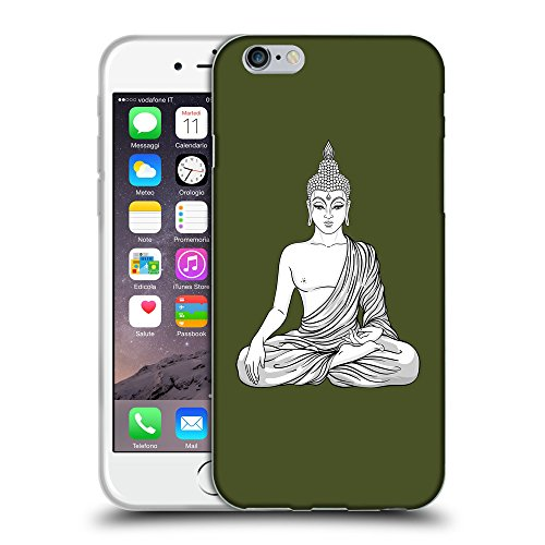 GoGoMobile Coque de Protection TPU Silicone Case pour // Q07720605 Bouddha 8 armée verte // Apple iPhone 6 PLUS 5.5""