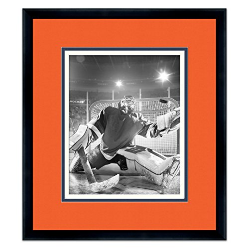 Sports Frames Edmonton Oilers Black Wood Picture Frame with Oilers Triple Mat Made to Display 8