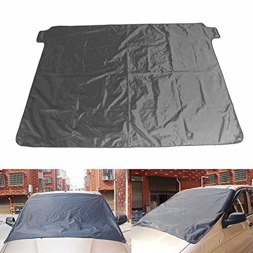 Magnetic Windshield Snow Ice Cover Anti Theft Car Protecor for Sun and Frost Medium Sized 190T 60 x 48 inch Small Vehicle