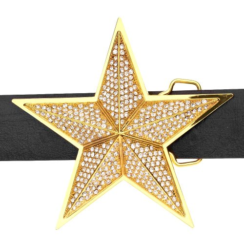 Iced Out Bling Ceinture - 3D STAR or