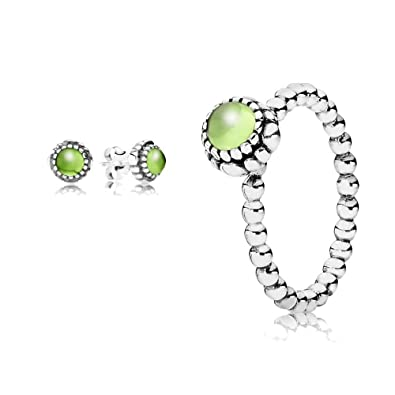 5da899ff7 Original Pandora gift set - 1 August Birthstone Ring 190854PE-52 and 1 August  Birthstone Stud Earrings 290543PE: Amazon.co.uk: Jewellery