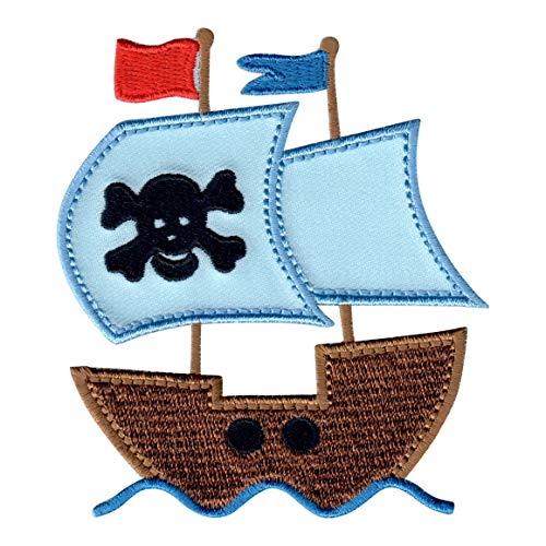 (PatchMommy Iron On Patch, Pirate Ship - Appliques for Kids Children)