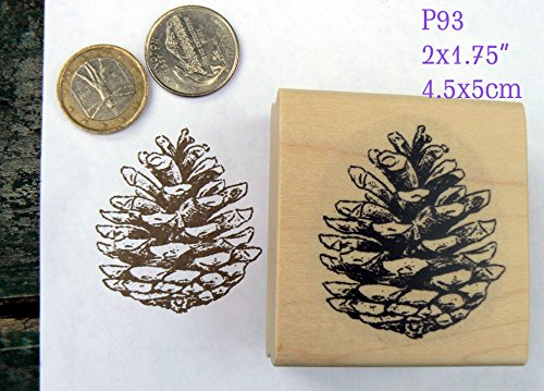 P93 Pine cone rubber stamp Pine Rubber Stamp