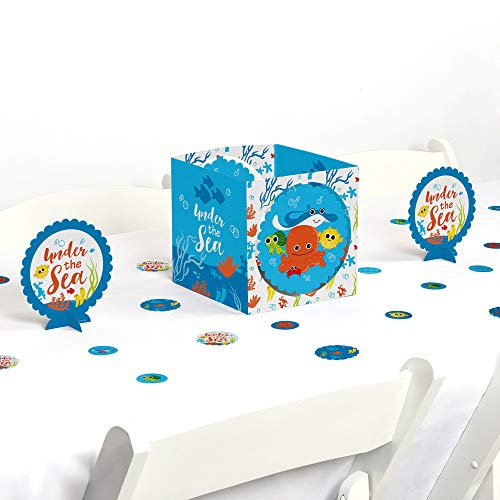 Big Dot of Happiness Under The Sea Critters - Baby Shower or Birthday Party Centerpiece & Table Decoration Kit ()