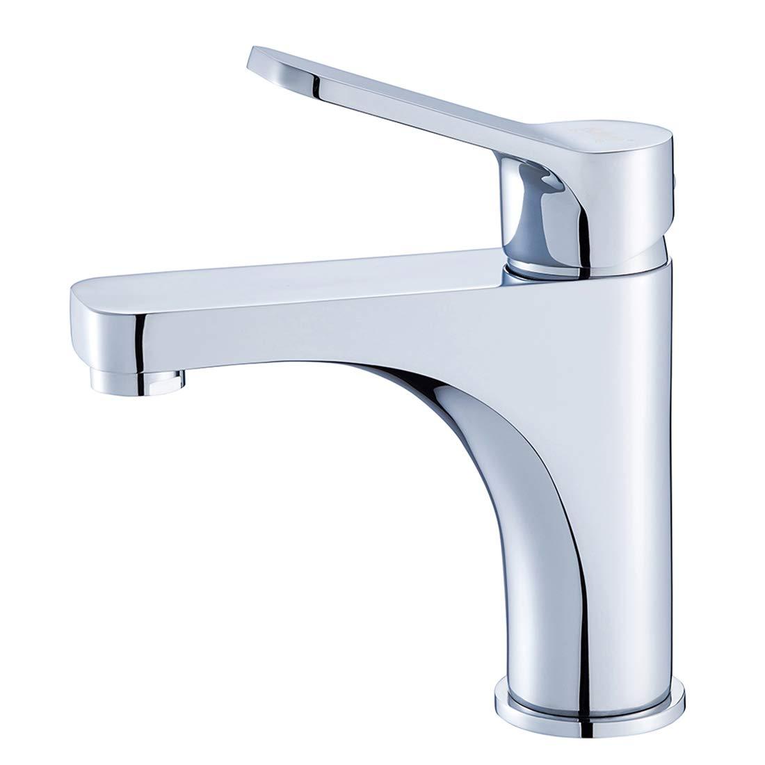 Ballee Mordern Solid Brass Basin Tap Bathroom Sink Mixer Monobloc Chrome Single Lever Single Hole Faucet 8408