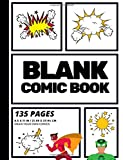Blank Comic Book: Create Your Own Comic Strip, Blank Comic Panels, 135 Pages, Black (Large, 8.5 x 11 in.) (Action Comics)...