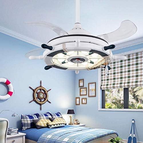 Jienan Rudder - Ventilador de Techo para habitación Infantil con 3 reguladores de Engranaje (42 Pulgadas A/Mando a Distancia): Amazon.es: Hogar