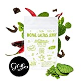 Cheap 6 Pack – Hot Nopal Cactus Jerky by Grün Choice|Chili Flavor, Powerful Superfood, Low Calorie Snacks, Agave Inulin for a Prebiotic Effect, Cholesterol & Blood Pressure Support | Nut & Gluten-Free | 70g