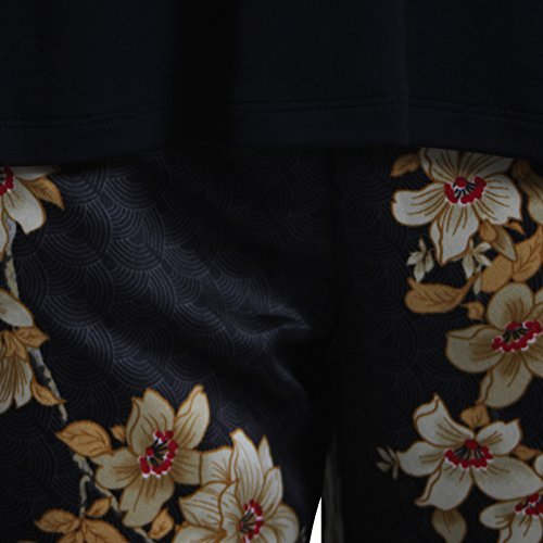 Ex Famous Store - Pijama - para mujer Negro Y Oro