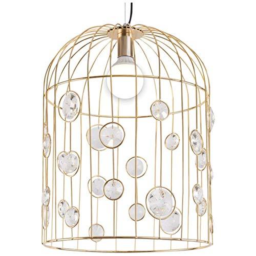 (Crystal Iron Art Birdcage Chandelier/Hanging Lamp/Pendent Light, Restaurant Living Room Bar Single Head Lamp, BOSS LV)