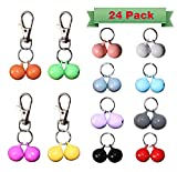 RYPET Cat Collar Bells (24 Pack) - Strongest & Loudest Dog Collar Bells - Bell Training Charm Pendants for Pet Cat Dog Necklace Collar