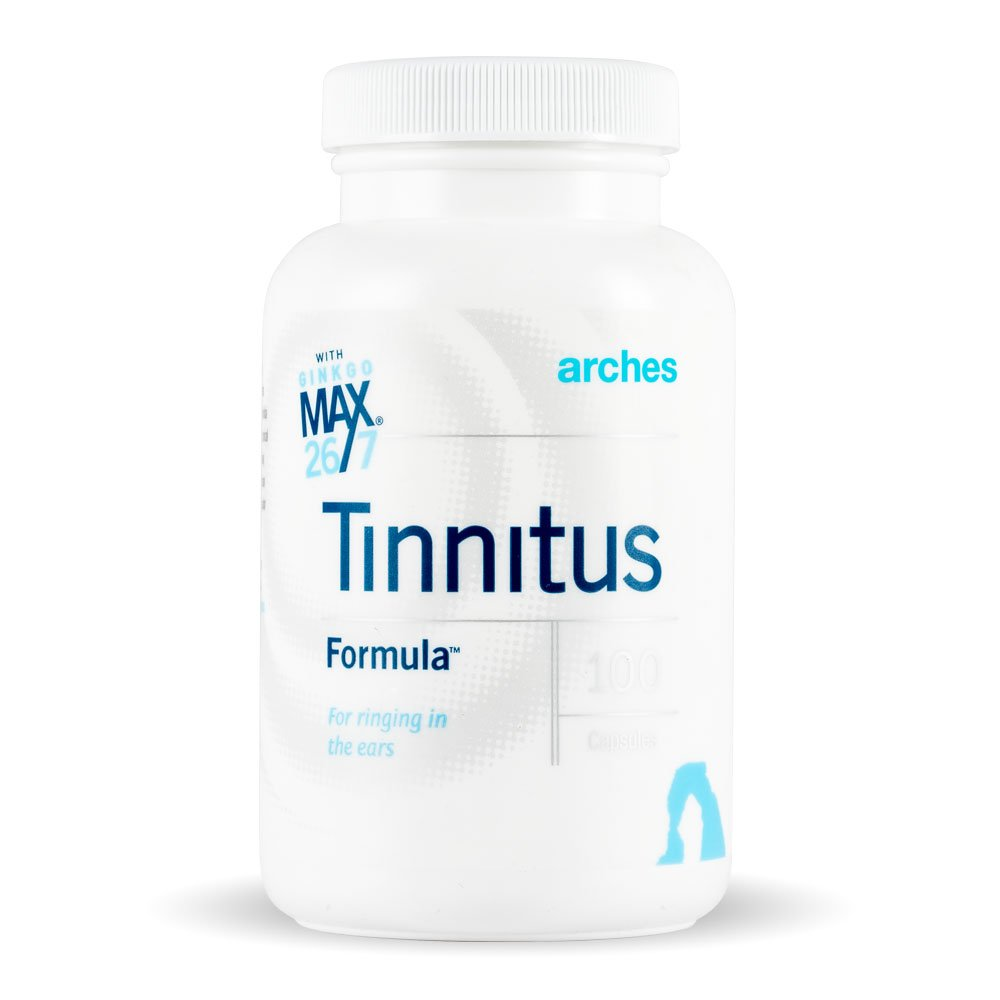 Arches Tinnitus Starter Kit - Now with Ginkgo Max 26/7 - Natural Tinnitus Treatment for Relief from Ringing Ears - 4 Bottles - 100 Day Supply by Arches Tinnitus Formulas (Image #2)