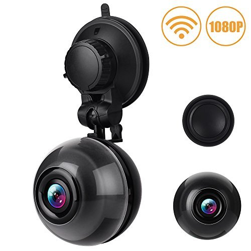 WiFi Dash Cam FHD 1080P Car Dashboard Camera 140 Degree Wide Angle Car DVR Motion Detection, Super Night Vision, Loop Recording, iOS Android APP, 64GB