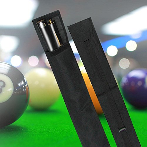 - T-best Pool Cue Bag Nylon Pool Cue Billiard Stick Storage Carrying Case 1/2 3/4 Size Black(3/4 type)