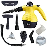 Handheld Steam Cleaner By Wollin - Compact & Lightweight Design - Ideal For Carpet, Floor, Vehicle, Door & Window Cleaning, Garment & Fabric Steaming, Clothes Ironing & Bed Mattress Disinfection