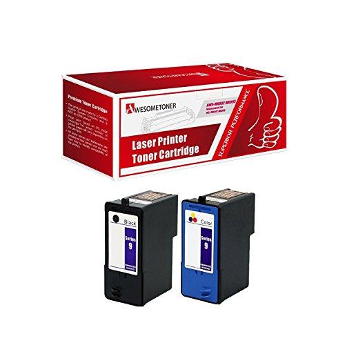 (2-Pack DELL Remanufactured DELL (Series 9) MK992 Black & MK993 Color Ink Cartridges for DELL 926, V305, V305W Printers)