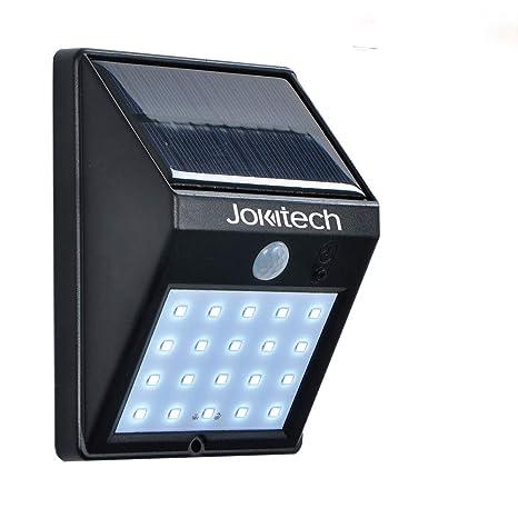 Super brillante 20 LED Solar calle luces, jokitech Sensor de movimiento lámpara de pared brillante