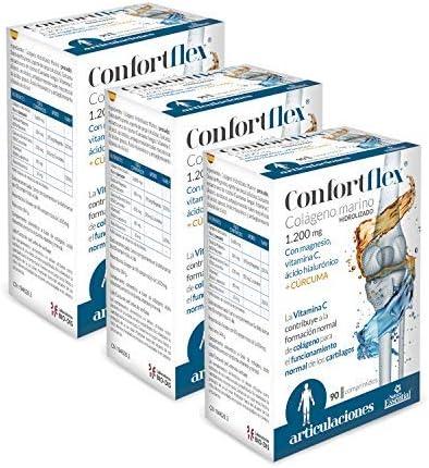 Confortflex® 1200 mg. 90 comprimidos con colágeno, cúrcuma, magnesio, ácido hialurónico y vitamina C. (Pack 3 unid.): Amazon.es: Salud y cuidado personal