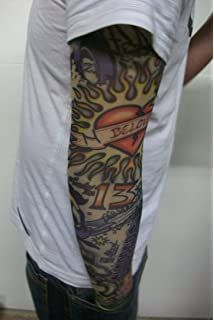 Fake Tattoo Arm Sleeve Love And War T84 Amazoncouk Beauty