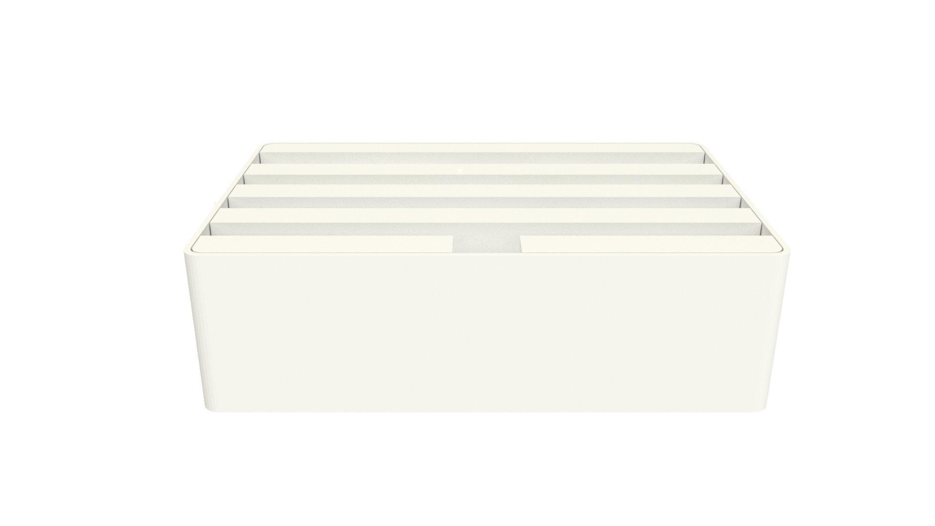Medium White Base with White Top (White / White) by ALLDOCK (Image #2)