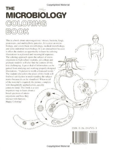 The Microbiology Coloring Book I Edward Alcamo Lawrence M Elson 9780060419257 Amazon Books