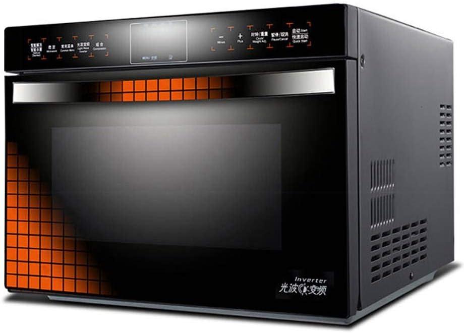 SUQIAOQIAO Inteligente LCD táctil Pantalla del inversor Horno de microondas de 900 W rápido Calentamiento Ahorro de Acero Inoxidable Horno de convección 25L Forro de energía