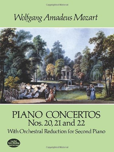 Download Piano Concertos Nos. 20, 21 and 22: With Orchestral Reduction for Second Piano (Dover Music for Piano) ebook