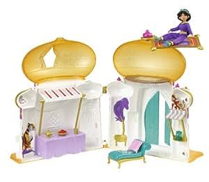 Disney W0010 - Mini castillo con muñeca de Jasmine y accesorios