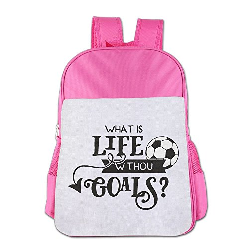 Soccer Life Goals Children's Backpack School Bag Suitable For 4-15 Year Olds