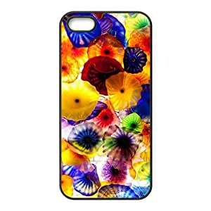 Colorful morning glory watercolour Phone Case for iPhone 5S(TPU)