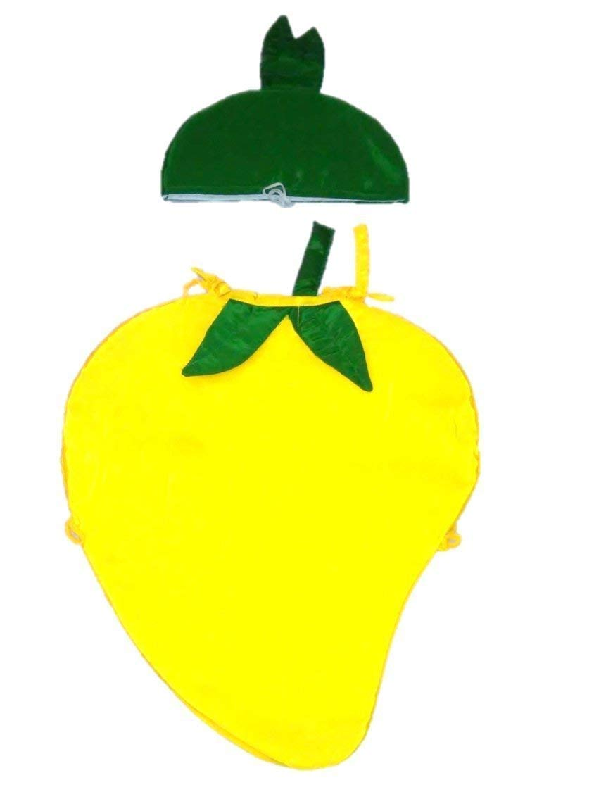 493fa5964ab Buy WTR Mango Fruit Kids Dress (Cutout With Cap) For Fancy Dress  Competitions Online at Low Prices in India - Amazon.in