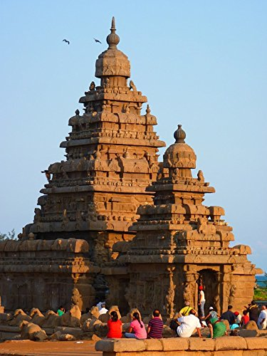 Shore Temple - Home Comforts LAMINATED POSTER Stone Granite Temple Mahabalipuram Sea Shore Temple Poster 24x36 Decal