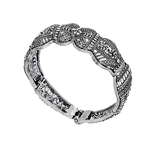 ted Indian Bollywood Look Bracelet Silver Jewellery Gift ()