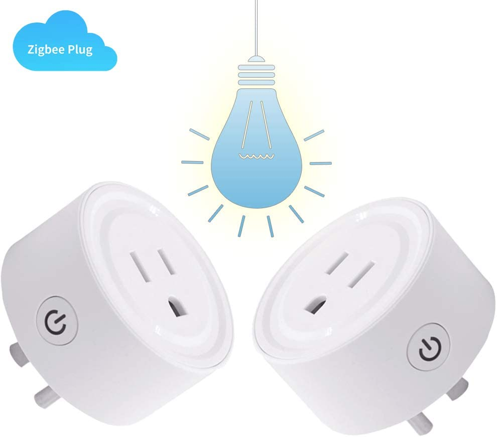 [2PC]Zigbee Smart Plug Outlet Compatible With Alexa, Echo,SmartThings Hub, alexa outlet,Smart switches Remote Control Your Home Appliances from Anywhere,alexa accessories