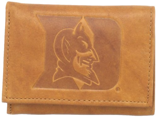 Fan Devils Blue Duke (NCAA Duke Blue Devils Embossed Genuine Leather Trifold Wallet)