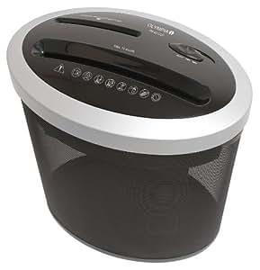Olympia PS 42 CCD Trituradora, corte particulado 4 x 35 mm, tambien para CD y tarjetas de crédito, rendimiento DIN A 4 70 g/m²: 10 hojas de papel,  color plata/negro
