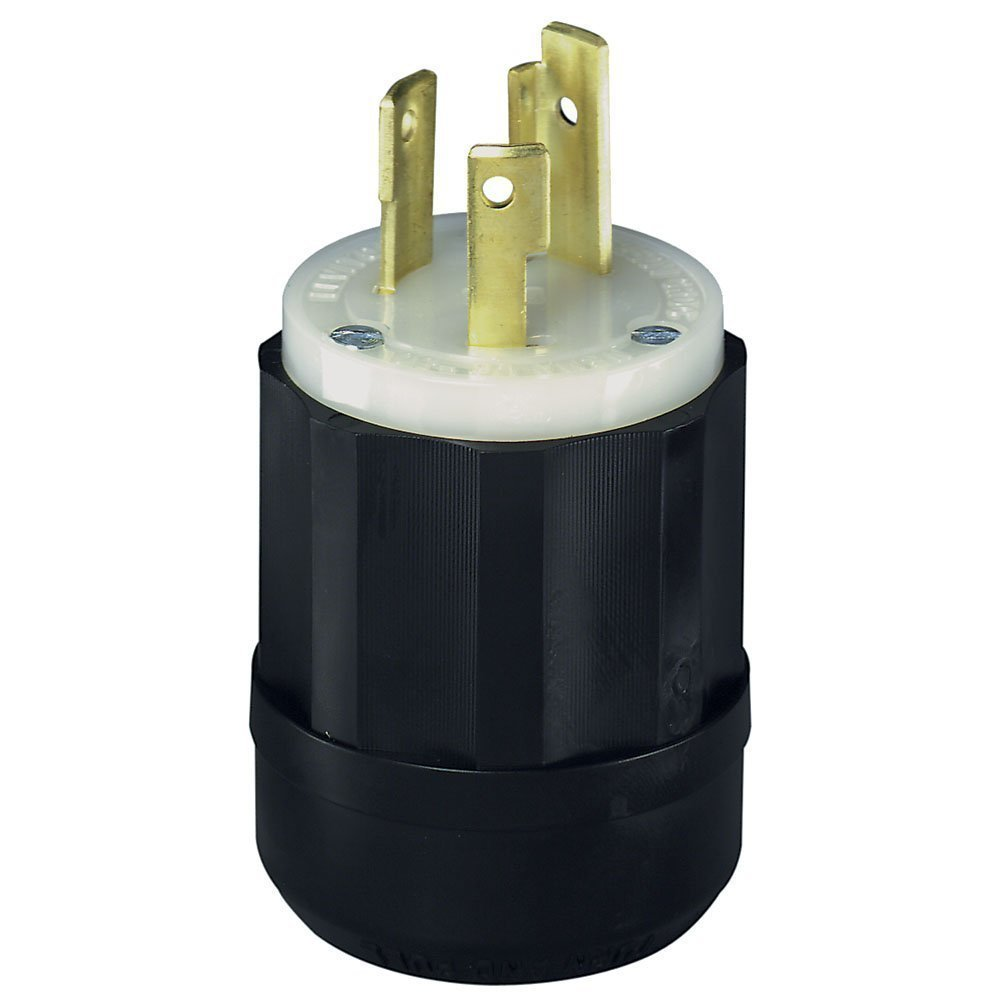 Leviton 2621 30 Amp 250 Volt Nema L6 30p 2p 3w Locking Plug How To Wire An Electrical Outlet Wiring Besides Duplex Industrial Grade Grounding Black White Electric Plugs
