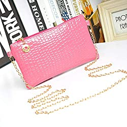 Women Fashion Leather Messenger Crossbody Clutch Shoulder Handbag Bag Gifts New Colors Hot Pink